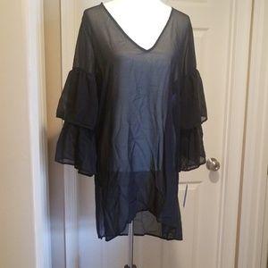 Michael Kors sheer black cover up